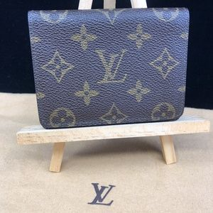 LV606  Monogram ID Card Wallet